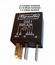 5 Pin automotive type 10 / 5 Amp  24v MICRO relay  ALT/RY2851-09